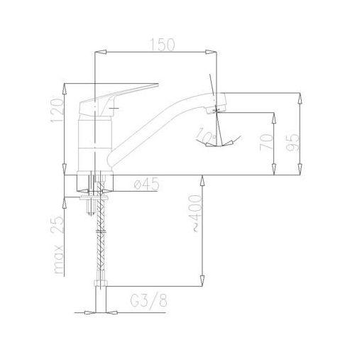 Baterie do umywalek, Bateria KFA Rodon 452-925-00