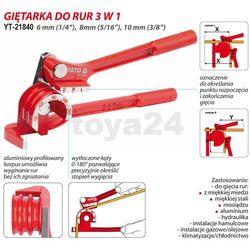 Giętarka do rur 6-10mm / YT-21840 / YATO - ZYSKAJ RABAT 30 ZŁ