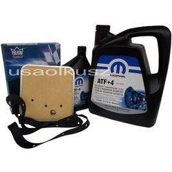 Olej MOPAR ATF+4 oraz filtr oleju skrzyni biegów 42RE Jeep Wrangler -2003