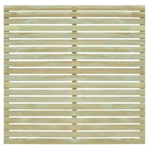 Przęsła i elementy ogrodzenia, vidaXL Panel ogrodzeniowy, impregnowane drewno sosnowe, 180x180 cm