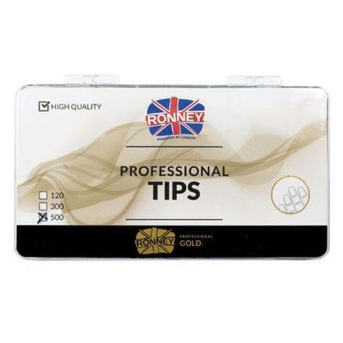 Tipsy, Ronney PROFESSIONAL TIPS FRENCH WHITE Tipsy french z małą kieszonką, białe (500 szt.)