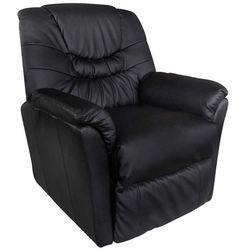 vidaXL Fotel wypoczynkowy, masujący, podgrzewany, czarny Darmowa wysyłka i zwroty