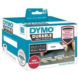 Oryginalne etykiety polipropylenowe DYMO LW 1933087 durable 190mm x 59mm białe/czarny nadruk