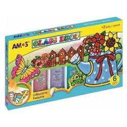 Farby witrażowe Glass Deco 6 kolorów AMOS