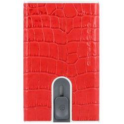 Piquadro Black Square Etui na karty RFID skórzana 6 cm metalized cardinal red ZAPISZ SIĘ DO NASZEGO NEWSLETTERA, A OTRZYMASZ VOUCHER Z 15% ZNIŻKĄ