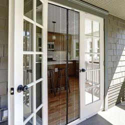 Moskitiera magnetyczna, Na Drzwi, Gotowa, biała, 160x230 cm