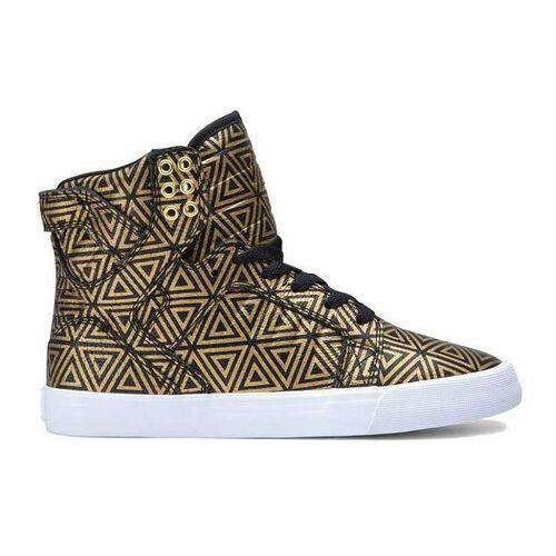 Damskie obuwie sportowe, buty SUPRA - Women Skytop Gold/Black (GLB) rozmiar: 36.5