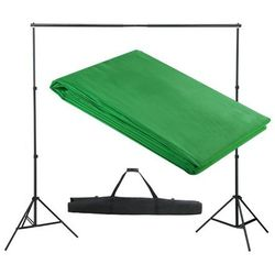 vidaXL System zawieszenia tła z zielonym tłem 300 x cm. Darmowa wysyłka i zwroty