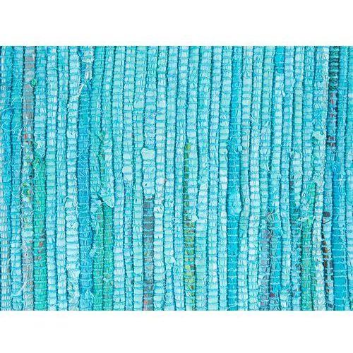 Dywany, Dywan bawełniany 140 x 200 cm niebieski MERSIN