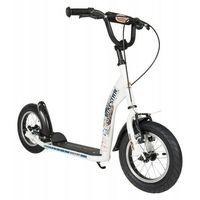 """Hulajnogi, Hulajnoga dla dzieci pompowane koła 12"""" BikeStar kolor biały"""