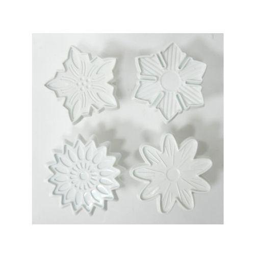 Formy do pieczenia, WYKRAWACZ LUKRU DO CIASTA TORTU- 4 kwiatki