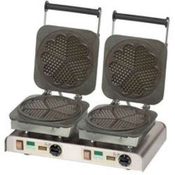Gofrownica podwójna | Heart Waffle | 400V / 4,4kW