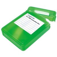 """Ramki i kieszenie do dysków, Pudełko ochronne na HDD LogiLink UA0133 3,5"""" zielone"""