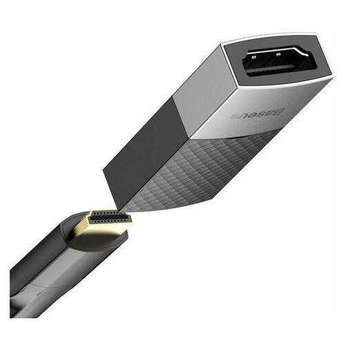 Okablowanie do aparatów, Baseus adapter łącznik złączka HDMI 4K@60 Hz czarny (CAFDQ-0G)