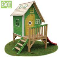 Domki i namioty dla dzieci, Domek cedrowy dla dzieci EXIT FANTASIA 300 /żółto-zielony/