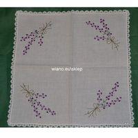 Serwety, Serweta ręcznie haftowana, motyw lawendy 50x50 cm
