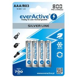 4x everActive R03/AAA Ni-MH 800 mAh ready to use