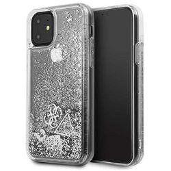 Guess GUHCN61GLHFLSI iPhone 11 srebrny/silver hard case Glitter Hearts - Srebrny