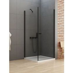 New Trendy New Soleo Black kabina prostokątna drzwi 90 x 100 cm wspornik skośny wys. 195 cm, szkło czyste 6 mm D-0231A/D-0116B