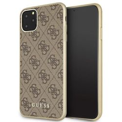 Guess GUHCN65G4GB iPhone 11 Pro Max brązowy/brown hard case 4G Collection - Brązowy