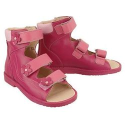 DAWID 951 bordo/róż/beż, obuwie profilaktyczne dziecięce, rozmiary: 25-30 - Bordowy