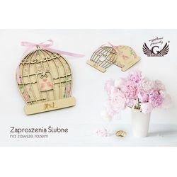 Zaproszenia ślubne z drewna - Na zawsze razem - cyfrowy druk UV - ZAP032
