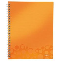 """Notatnik z przekładkami """"Get Organised"""" LEITZ WOW A4 w kratkę pomarańczowy"""