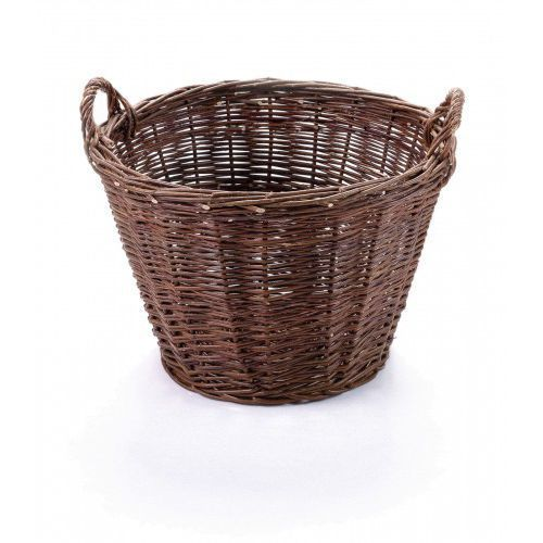 Koszyki, Kosz gospodarczy z ciemnej wikliny