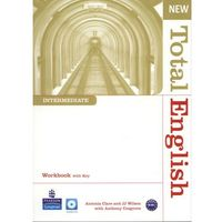 Książki do nauki języka, New Total English Intermediate Workbook With Cd (opr. miękka)