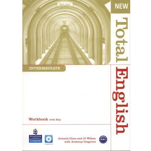 Książki do nauki języka, New Total English Intermediate Workbook With Cd (opr. miękka)