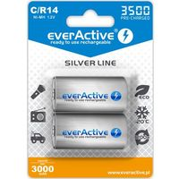"Akumulatorki, 2x everActive R14/C Ni-MH 3500 mAh ready to use ""Silver line"""