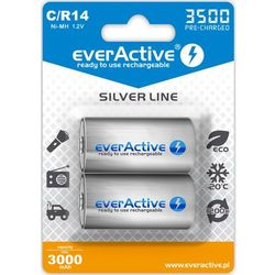 "2x everActive R14/C Ni-MH 3500 mAh ready to use ""Silver line"""