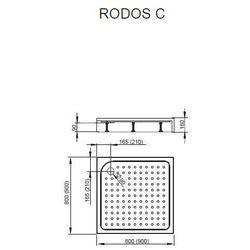 Brodzik kwadratowy akrylowy ze zintegrowaną obudową Radaway Rodos C 80x80x16,5 - 4K88155-04