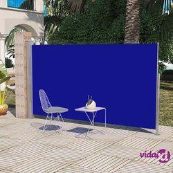 vidaXL Markiza boczna na taras, 160 x 300 cm, niebieska Darmowa wysyłka i zwroty
