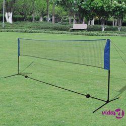 vidaXL Siatka do badmintona, lotki, 300x155 cm Darmowa wysyłka i zwroty