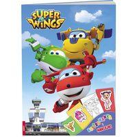 Kolorowanki, Super Wings Kolorowanka i naklejki - Ameet OD 24,99zł DARMOWA DOSTAWA KIOSK RUCHU