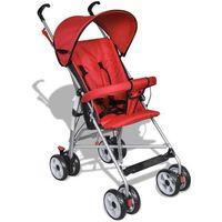 Wózki spacerowe, vidaXL Wózek spacerowy dla dziecka czerwony Darmowa wysyłka i zwroty