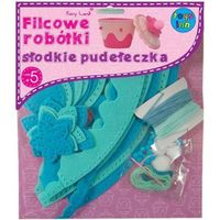 Kreatywne dla dzieci, Filcowe robótki. Słodkie pudełeczka niebieskie