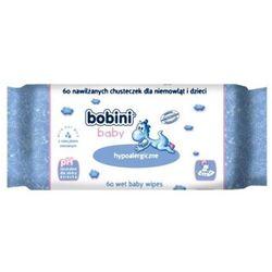BOBINI 60szt Baby Chusteczki hypoalergiczne nawilżające z mleczkiem owsianym dla dzieci i niemowląt