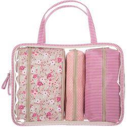 Kosmetyczka podróżna LIBERTY ROSE - 4 sztuki w komplecie, różowy kolor