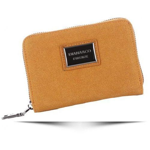 Portfele i portmonetki, Poręczne Portfele Damskie Diana&Co Firenze z paskiem Musztardowe (kolory)