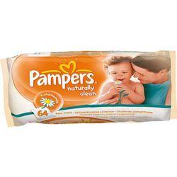 Pampers naturally clean - chusteczki pielęgnacyjne 64 szt.