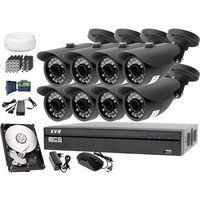 Zestawy monitoringowe, Zestaw do monitoringu: Rejestrator BCS-XVR0801, 8x Kamera LV-AL20HT, 1TB, akcesoria