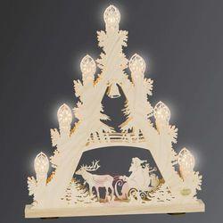 Siedmiopunktowy trójkątny świecznik 3D Zaprzęg
