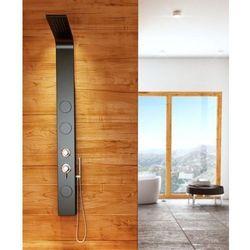 8721 Aluminiowy panel prysznicowy, czarny
