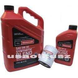 Oryginalny filtr oraz syntetyczny olej silnikowy Motorcraft 5W30 Ford F-150 3,5 V6 2011-