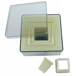 Wycinarka kwadratowa gładka | 9szt. | 2,8 - 9,8cm