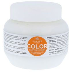 Kallos KJMN maseczka do włosów farbowanych (Color Hair Mask with Linseed Oil and UV Filter) 275 ml