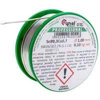 Akcesoria lutownicze, Spoiwo lutownicze bezołowiowe Cynel 1,0 mm 100 g