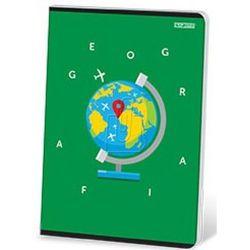 Brulion tematyczny Top-2000 A5 80 kratka twarda oprawa Geografia